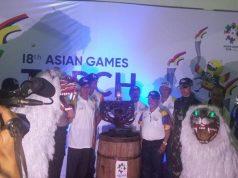 Kirab api obor Asian Games 2018 di Bondowoso
